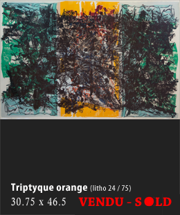 Triptyque orange
